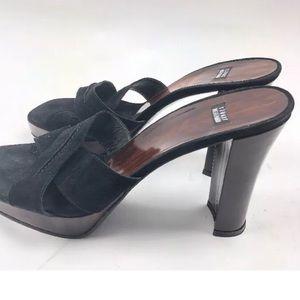 Stuart Weitzman Platform Sexy Heels Slide Sandals